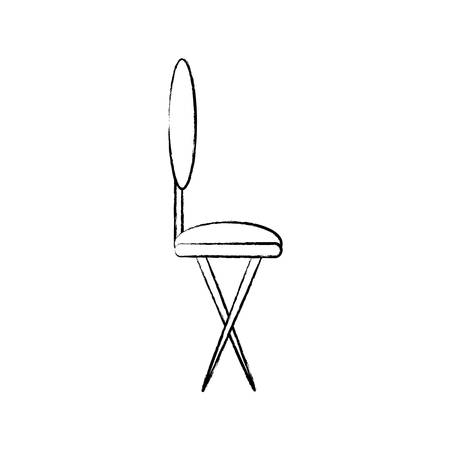 sketch of dining chair icon over white background vector illustration Иллюстрация