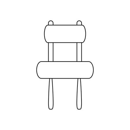 Armless accent chair icon.