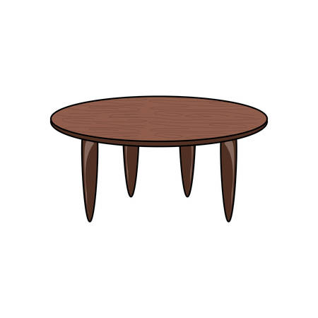 coffee wooden table icon over white background vector illustration