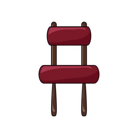 armless accent chair icon over white background colorful design vector illustration