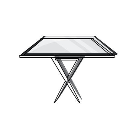 Dining table icon over white illustration. Illustration