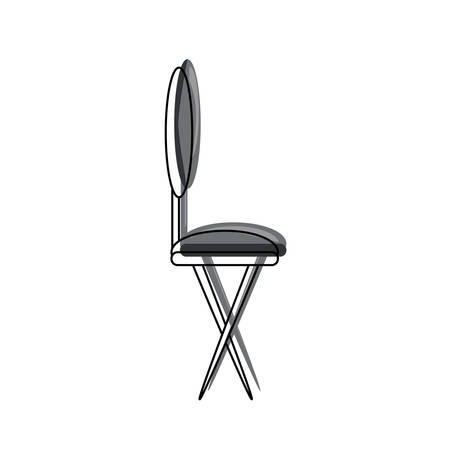 Dining chair icon over white illustration.
