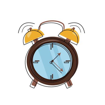 alarm clock ringing icon over white background colorful design vector illustration