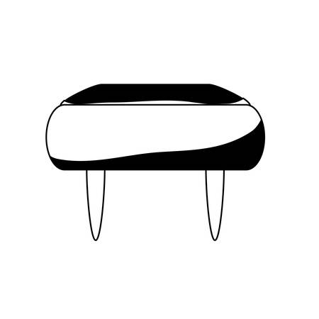 Pouf chair icon over white background vector illustration