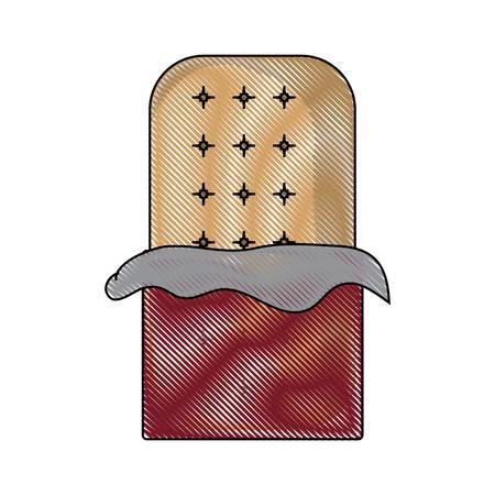 chocolate bar icon vector illustration. 일러스트
