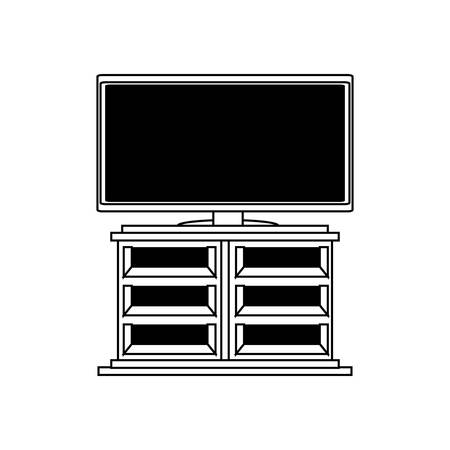 flat television icon vector illustration.