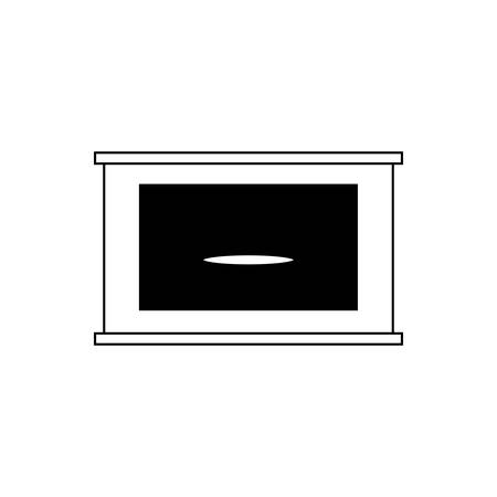 Drawer icon over white backgorund vector illustration