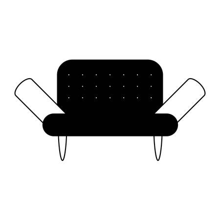 Sofa icon over white background vector illustration