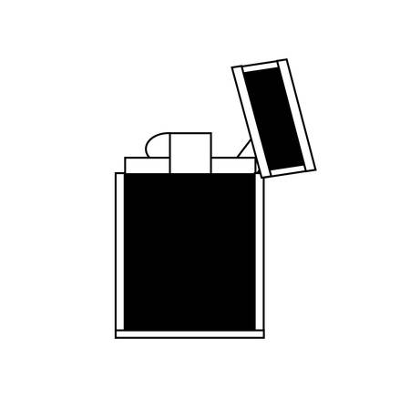 Metal lighter icon Illustration