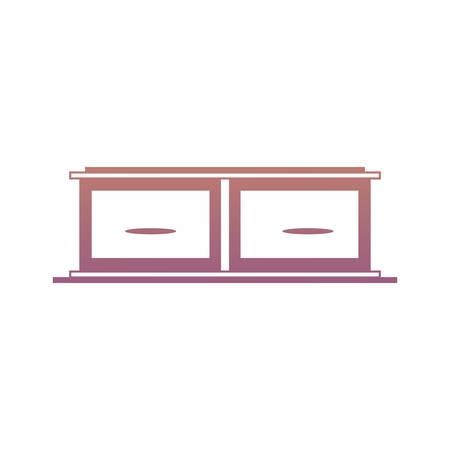 Drawers icon over white backgorund colorful design vector illustration