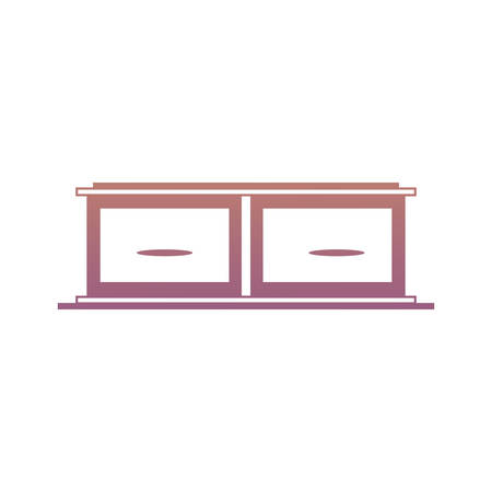 Drawers icon over white backgorund colorful design vector illustration