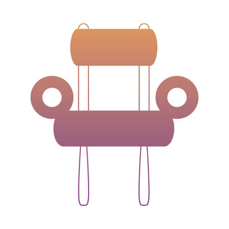 Armchair icon over white background colorful design vector illustration Illustration
