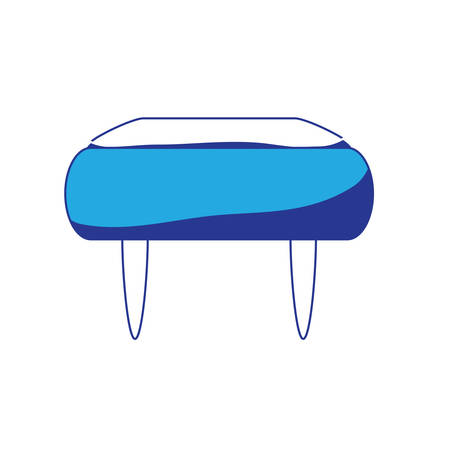 Pouf chair icon over white background colorful design vector illustration