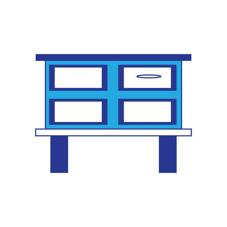 Chest of drawers icon over white background vector illustration