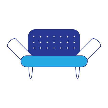 Sofa icon over white background colorful design vector illustration.