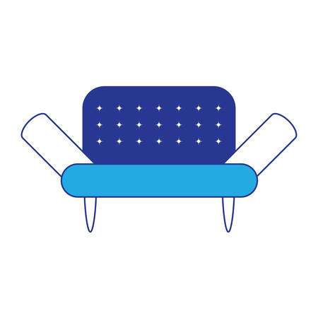 Sofa icon over white background colorful design vector illustration.