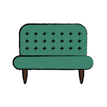 Couch icon over white background colorful design vector illustration Illustration