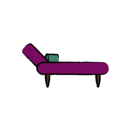 Divan couch icon