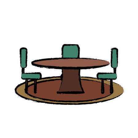 Dining table icon image Illustration
