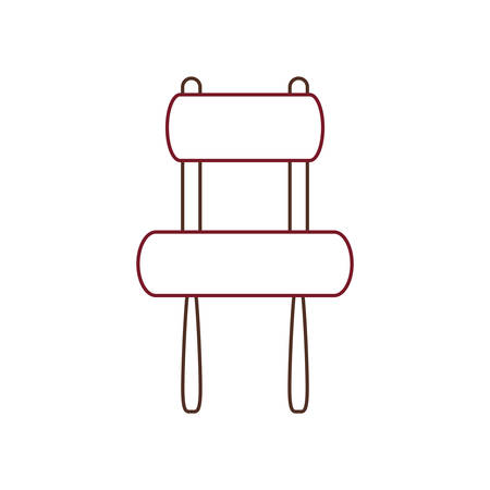 Armless chair icon over white background vector illustration