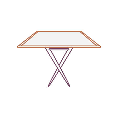 Dining table icon over white background vector illustration