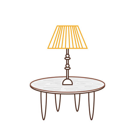 Pendant lamp icon over white background.