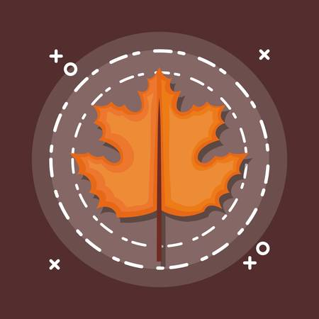 colorful autum leaves vector illustration.