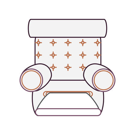recliner chair  icon over white background vector illustration Illustration
