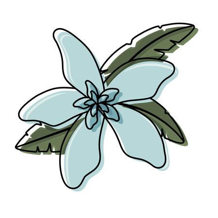 A flower with petals light blue vector illustration 向量圖像