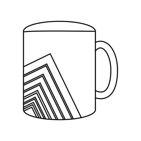 mug with lines  vector illustration Çizim