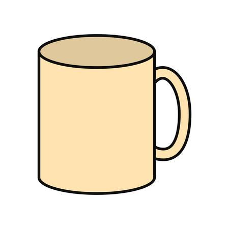 colorful  mug  light yellow  over white background  vector illustration Фото со стока - 91964418