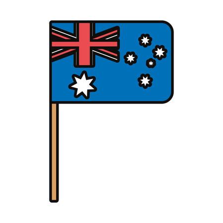 Colorful hand pendant with australia design over white background vector illustration Stock Illustratie