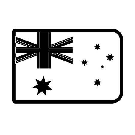 Flag of Australia illustration.