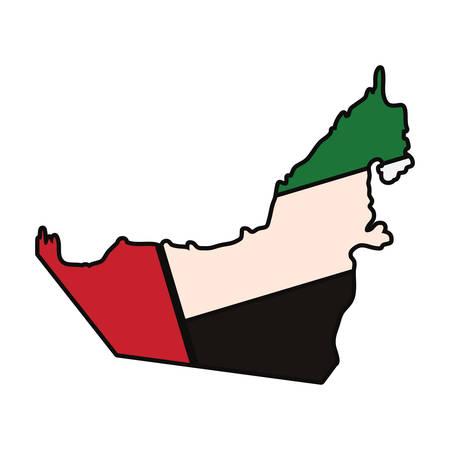 アラブ首長国連邦の国のシルエット