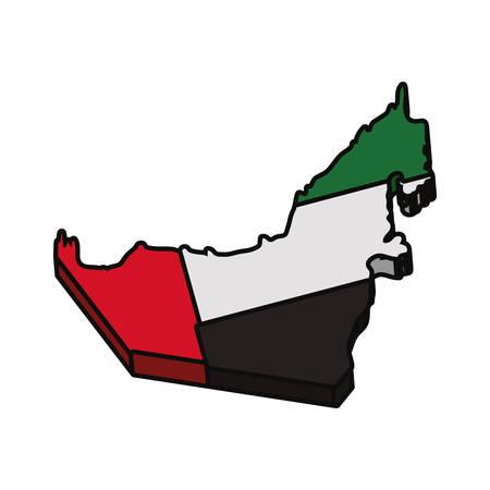 Vereinigte Arabische Emirate Land Silhouette Symbol Vektor-Illustration Grafik-Design Vektorgrafik