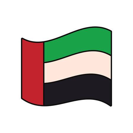 United Arab Emirates flag icon vector illustration graphic design