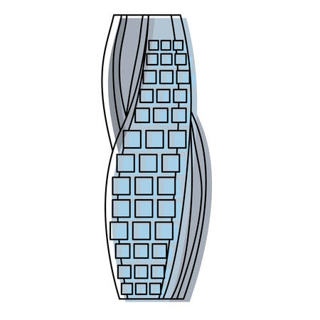 Dubai skyscraper tower icon vector illustration graphic design