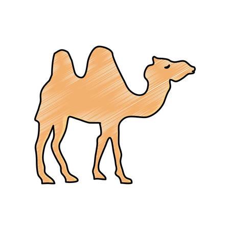 Camel cartoon silhouette icon vector illustration graphic design