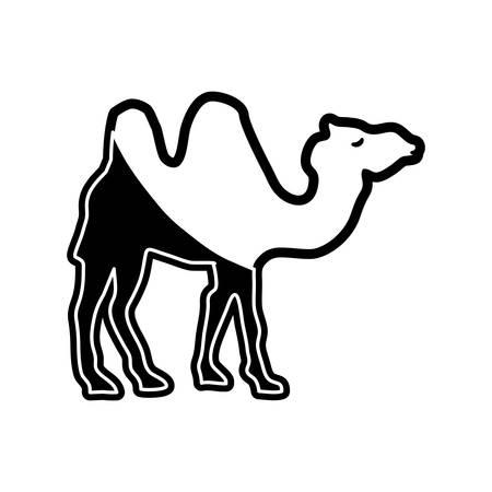 Camel cartoon icon Illustration