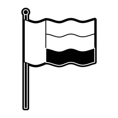 United Arab Emirates flag icon vector illustration graphic design Illustration