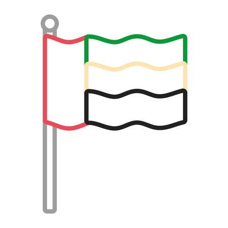 United Arab Emirates flag icon illustration graphic design.