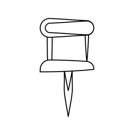 Pushpin isolated symbol illustration. Illustration