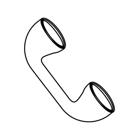 Telephone isolated symbol illustration.