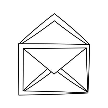 Mail or email symbol illustration.