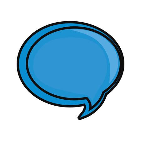 Chat bubble symbol illustration.