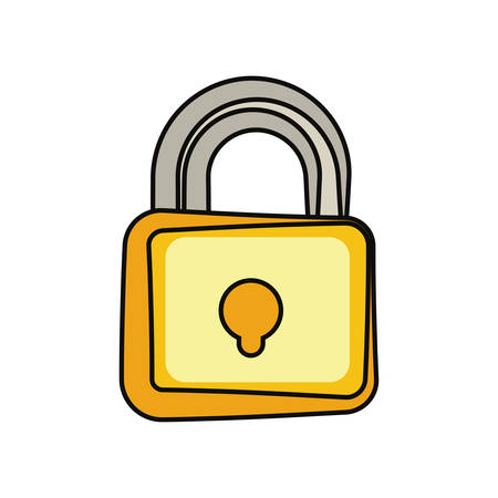 Padlock security symbol illustration.