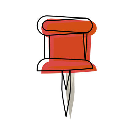 Pushpin isolated symbol icon vector illustration graphic design