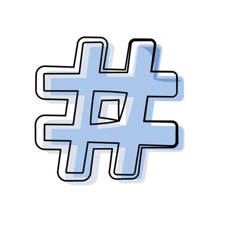 Hashtag social symbol icon vector illustration graphic design Illustration