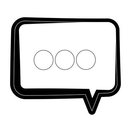 Chat bubble symbol icon vector illustration graphic design Vectores