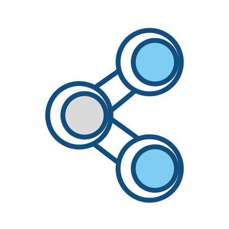 Sharing social symbol icon vector illustration graphic design Illustration